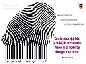 De identiteit in de vingerafdruk