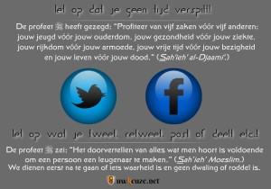 Twitter en Facebook