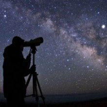 Observing space through a telescope
