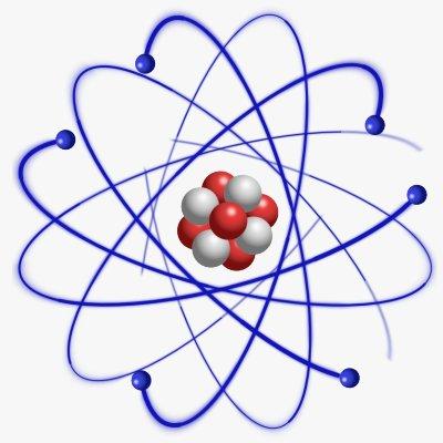 Koolstofatoom. De ordening in de structuur van het atoom heerst in het hele universum. Door het atoom met zijn deeltjes wordt materie bij elkaar gehouden en is het stabiel.