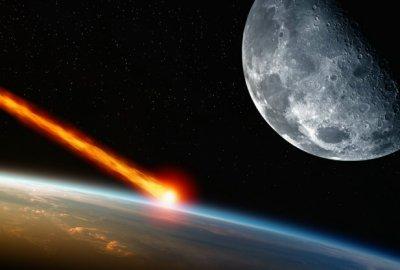 Een meteoriet verbrandt in de dampkring.