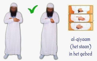 Correcte posities van de handen.