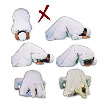 Incorrecte houdingen tijdens de soedjoed!