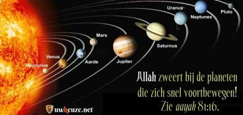 Het zonnestelsel.