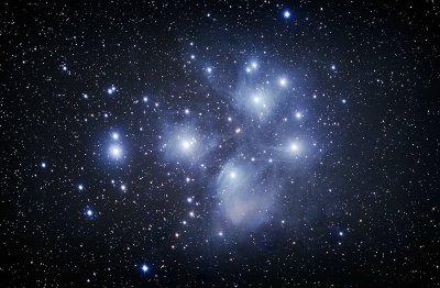 de Pleiaden (het Zevengesternte)