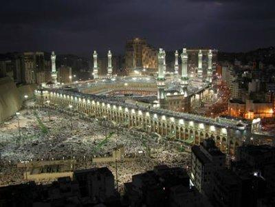 al-Masdjid al-H'araam (de Heilige Moskee) in Mekkah