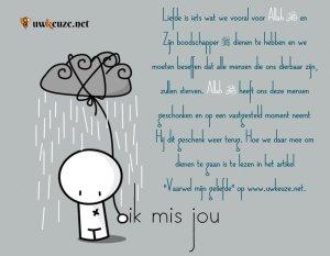 Ik mis jou