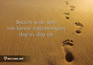 Succes voetstappen