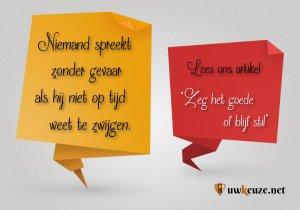 Spreken of zwijgen