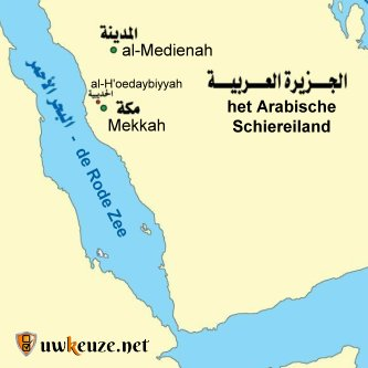 Map Hoedaybiyyah