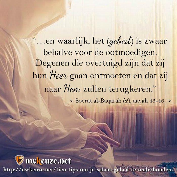 bidden is belangrijk
