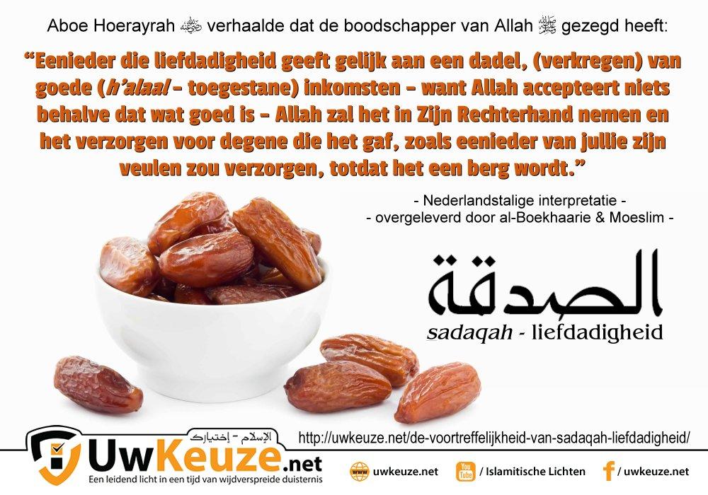 Liefdadigheid sadaqah wp1
